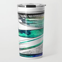 Surfboard Surf Sketch Stripe Travel Mug