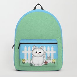 White Cat Backpack