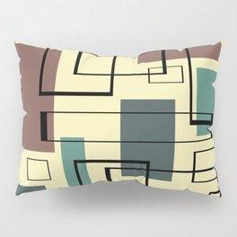 Mid Century Modern Rectangles Pillow Sham
