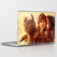 hiccup Laptop & iPad Skins featuring The Greatest Dragon Master by Five-Oclock