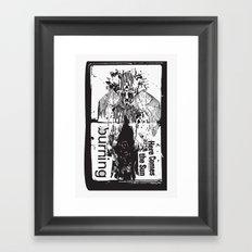 burning sun Framed Art Print
