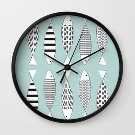 Nordic fish Wall Clock