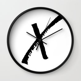Letter X Ink Monogram Wall Clock