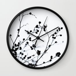 Winter Silhouettes 1 Wall Clock