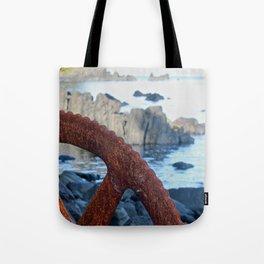 Rusty Wheel Photography Print Tote Bag