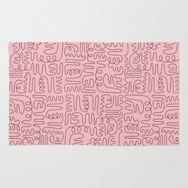 Loops & Curves - Pink Rug