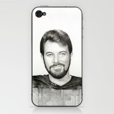 Commander William Riker iPhone & iPod Skin