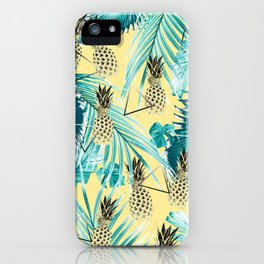 Tropical Pineapple Jungle Geo #1 #tropical #summer #decor #art #society6 iPhone Case