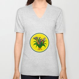 Agave With Hammer Spanner Pliers Water Color Unisex V-Neck