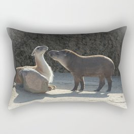 Love is... overcoming your differences Rectangular Pillow