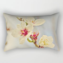Almond Blossoms in the Wind Rectangular Pillow