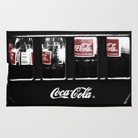 coca cola Area & Throw Rugs featuring coca cola by Crimson Crazed