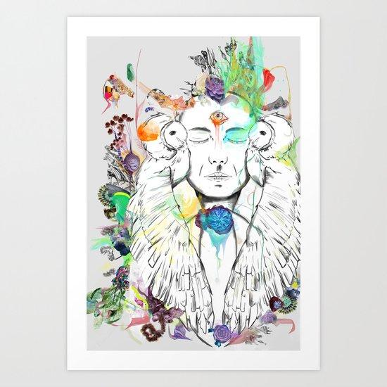 Swayambhu Art Print