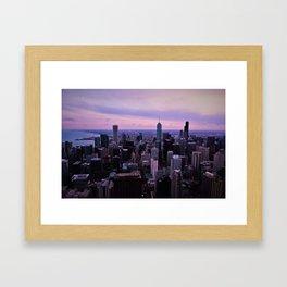 Chicago Sunsets Framed Art Print