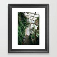 Old Greenhouse Framed Art Print
