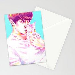 Minho & Kitten Stationery Cards
