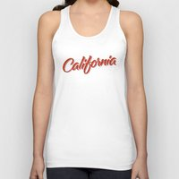 california Tank Tops featuring California by mavgraphic