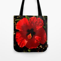 hibiscus Tote Bags featuring Hibiscus by Armine Nersisian