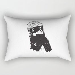 Snow Man Rectangular Pillow