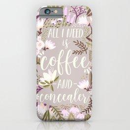 Coffee & Concealer – Spring Palette iPhone Case
