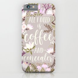 Coffee & Concealer – Spring Palette iPhone Case