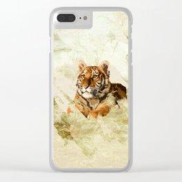 Tiger Cub - Mixed Media Digital art Clear iPhone Case