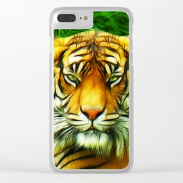 Tiger is Not Amused Clear iPhone Case