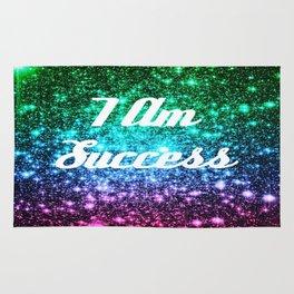 Success Affirmation Galaxy Sparkle Stars Rug