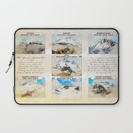 7 Summits, the worlds highest mountains Laptop Sleeve