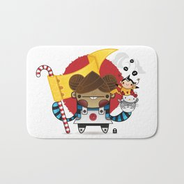 Chestnut + Kiiroihankachi cause we will not forget!!! Bath Mat