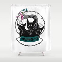 Lucy Fur the Hellhound Shower Curtain