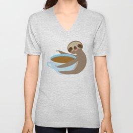 sloth & coffee 2 Unisex V-Neck