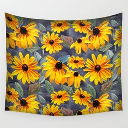 Black-eyed Susan Pattern Wall Tapestry