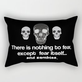 Fear Zombies Rectangular Pillow