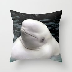 Beluga Whale Throw Pillow