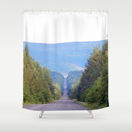 Down into the Mountains Shower Curtain