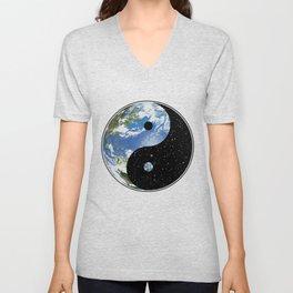 Earth / Space Yin Yang Unisex V-Neck