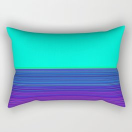 Re-Created Color Field and Stripes 9 by Robert S. Lee Rectangular Pillow