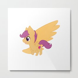 Chibi Scootaloo Metal Print