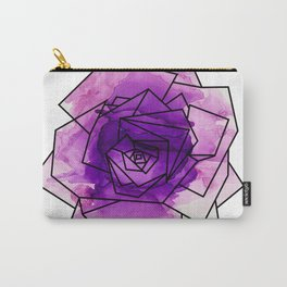 Purple Watercolor Dream Rose Carry-All Pouch