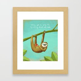 Nothing gets me going like my morning caffe latte Framed Art Print