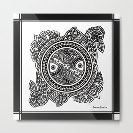 Design inspired from Mithila Painting Metal Print
