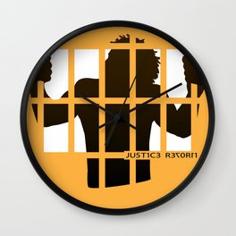 Justice Reform Wall Clock