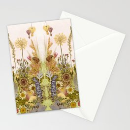 Pink Garden mirrored Stationery Cards