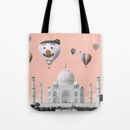 Hot air balloons with Taj Mahal Tote Bag