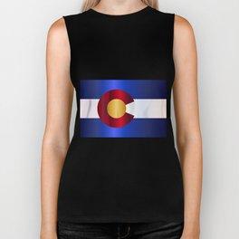 State Flag Of Colorado Biker Tank
