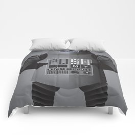 Push My Buttons Comforters
