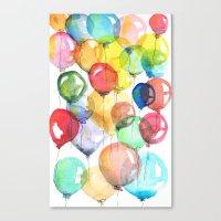 balloons Canvas Prints featuring balloons by Katja Main