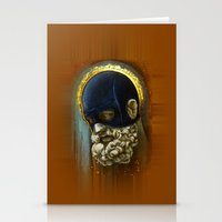 "hercules Stationery Cards featuring ""Masked Hercules"" by Bryan Keith Lanier"
