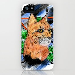 Abstract background lynx iPhone Case